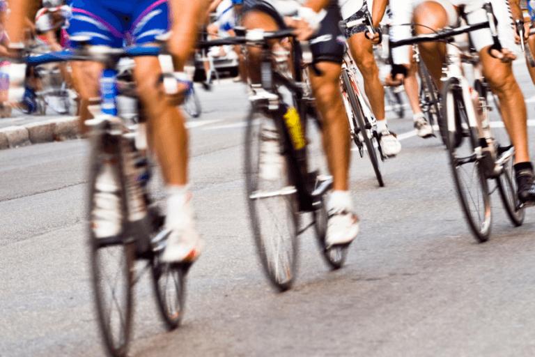 Tadej Pogacar cyclists racing in Tour de France